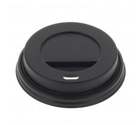 Tapa vaso cartón beber negra 200ml (100uds)