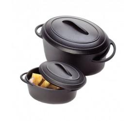 Cazuela Degustacion Negro con Tapa 80ml (6 Uds)