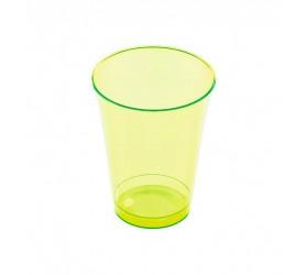 Vaso Inyectado Verde extra rigido230 ml (10 Uds)