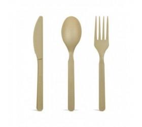 Cuchillo bambú + PLA 180mm (50 uds)